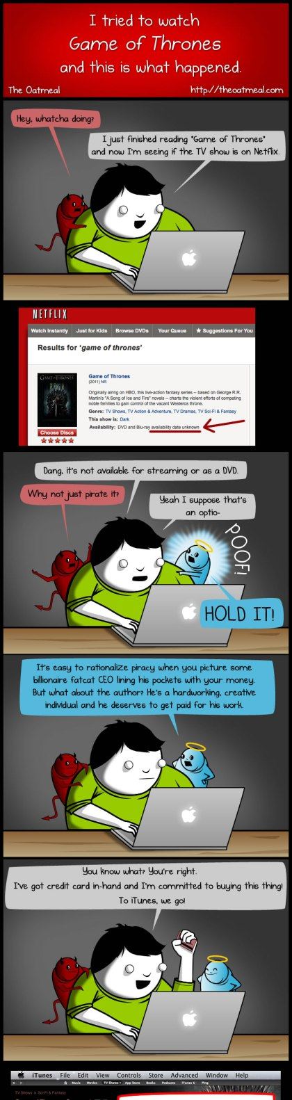 I tried to watch Game of Thrones and this is what happened - The Oatmeal